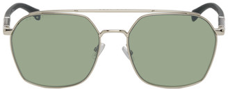 BOSS Gold Metal Square Sunglasses