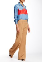 L.A.M.B. Double Crepe Bell Bottom Pant
