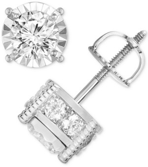 TruMiracle Diamond Stud Earrings (1-1/4 ct. t.w.) in 14k Gold, Rose Gold or White Gold