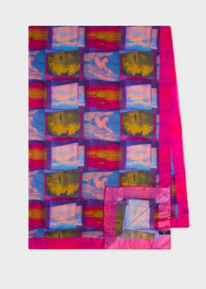 Paul Smith Women's 'Space Photos' Print Silk-Blend Scarf
