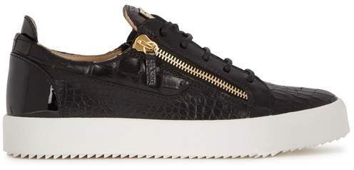 Giuseppe Zanotti Frankie Crocodile-effect Leather Trainers