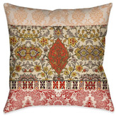 Laural Home Red Spice Bohemian Tapestry Indoor Decorative Pillow