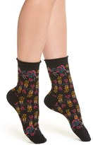 Urban Outfitters Women's Free People Floral Ankle Socks
