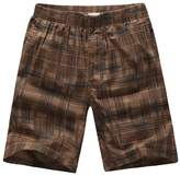 Chickle Men's Big and Tall Plaid Cargo Shorts L