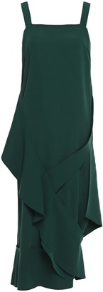 Chalayan Draped Crepe Midi Dress