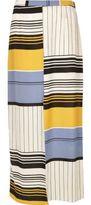River Island Womens Blue stripe split front maxi skirt
