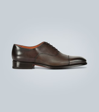 Santoni Paneled leather Oxford shoes