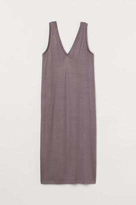 H&M V-neck Jersey Dress - Purple