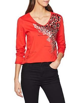 Blue Seven Women's's Damen-Langarmshirt Von Mit Front-Druck T-Shirt,(Size: 46)