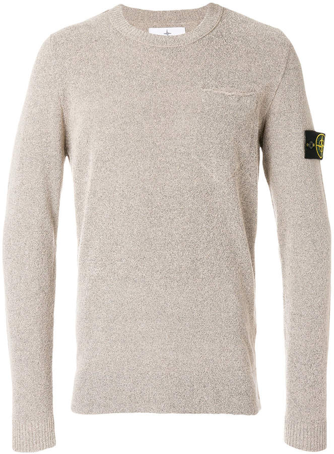 Stone Island logo patch sweater
