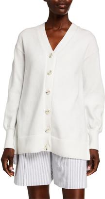 ADEAM Ruffled Angel-Hair Cotton Cardigan