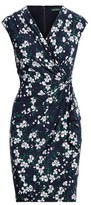 Ralph Lauren Floral Pleated Surplice Dress