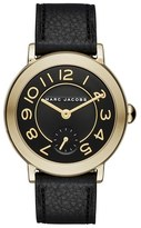 Marc Jacobs Women's 'Riley' Leather Strap Watch, 36Mm
