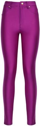 Versace Jeans Couture Shiny Lycra Skinny Pants