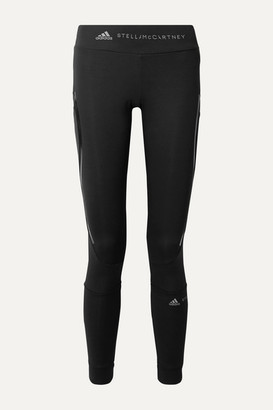 adidas by Stella McCartney Essentials Mesh-paneled Climalite Leggings - Black