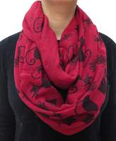 Lina & Lily Cat Kitten Print Women's Infinity Loop Scarf