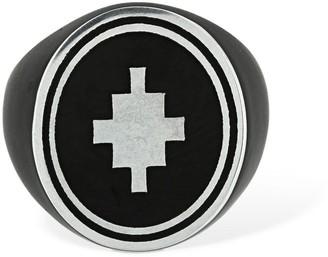 Marcelo Burlon County of Milan Cross Logo Detail Thick Ring