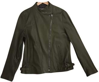 Bally Green Leather Jacket for Women