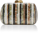 Beatriz Mylene Striped Shell Clutch