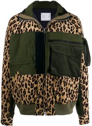 Sacai leopard print jacket