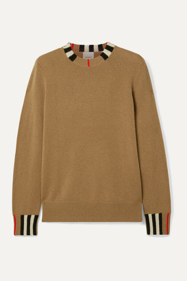 Burberry Striped Cashmere Sweater - Light brown
