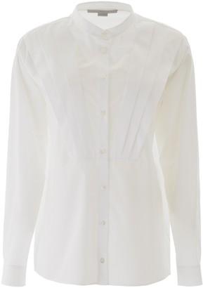 Stella McCartney Pleated Mandarin Collared Shirt