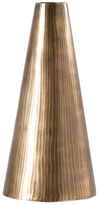 Torre & Tagus Short Tomar Ribbed Cone Vase