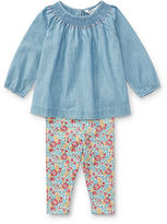 Ralph Lauren Girl Chambray Top & Floral Legging