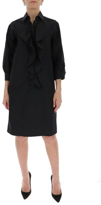 Max Mara Ruffled Shirt Dress