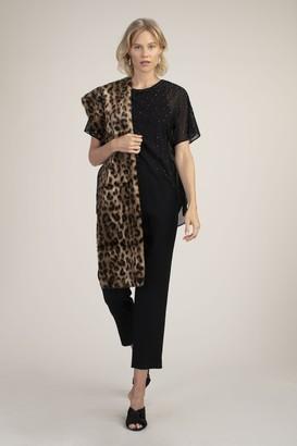 Trina Turk Leopard Faux Fur Stole