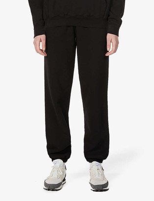 Sporty & Rich Health Club tapered mid-rise cotton-jersey jogging bottoms
