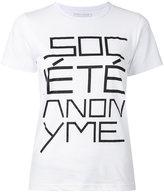 Societe Anonyme Logo T-shirt - women - Cotton - S