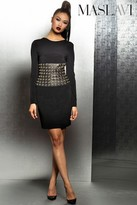 Jovani Long Sleeve Cocktail Dress with Grommets M307