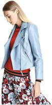 Joe Fresh Women's Pleather Moto Jacket, Teal (Size S)
