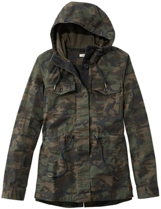 L.L. Bean Women's Hooded Ripstop Jacket, Camo