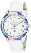 Giorgio Armani Exchange Classic AX5437 Women's Stainless Steel Watch with Crystal Accents