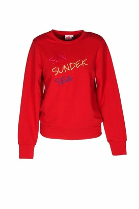 Sundek Embroidered Sweatshirt - Red - S