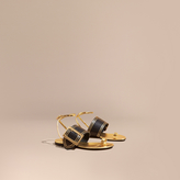 Burberry Two-tone Buckle Detail Sandals