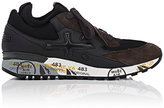 Premiata Men's Nelson Leather & Suede Sneakers-GREY
