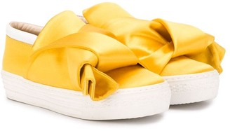No21 Kids Knotted Slip-On Sneakers
