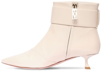 Roger Vivier 45mm Patent Leather Ankle Boots