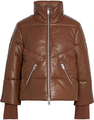 Walter Baker Edwina Zip-detailed Quilted Leather Jacket