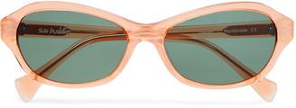 Sun Buddies Wesley Oval-Frame Acetate Sunglasses