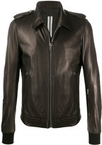 Rick Owens ribbed-cuff leather jacket