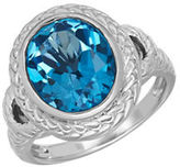 Lord & Taylor Blue Topaz and Sterling Silver Ring