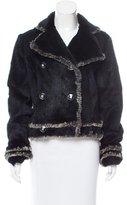 Adrienne Landau Double-Breasted Fur Jacket
