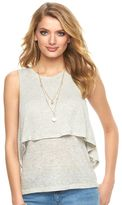 Juicy Couture Women's Split-Back Double Layer Tank