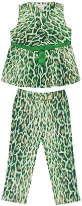 Christian Dior Green Silk Tops