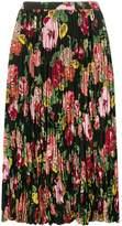 Junya Watanabe floral pleated skirt