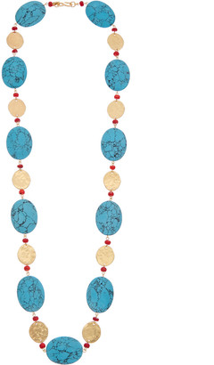 Kenneth Jay Lane 22K Plated Coin Necklace